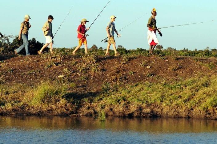 Fishing at Loisaba